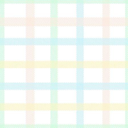 Pastel color tartan plaid style colorful seamless vector pattern. Ilustração