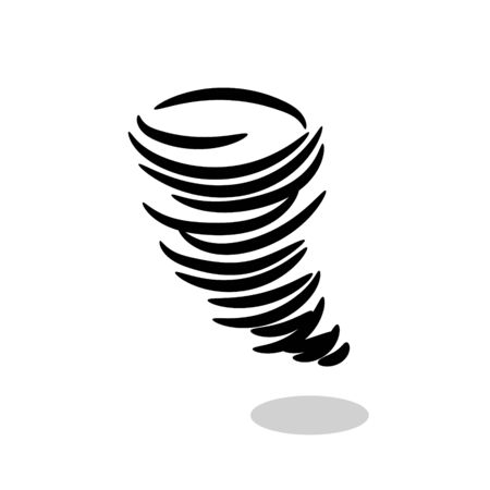 Tornado hurricane vector icon symbol. Storm icon isolaed on white background.