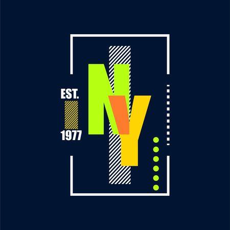 T-Shirt Design nyc Typografie-Vektor-Illustration-Vorlage. T-Shirt-Print-Design auf dunklem Stoff.