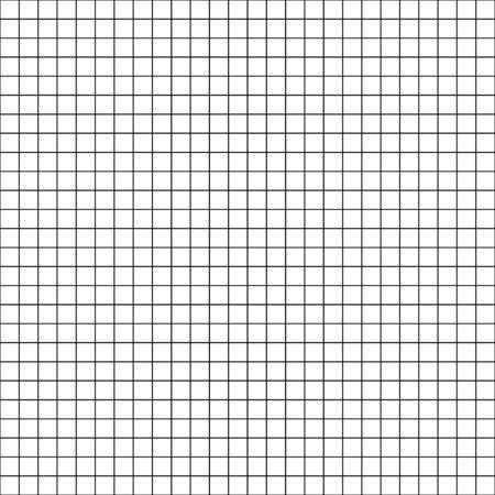 Graph paper grid white background seamless pattern texture. Squared notebook pattern. Ilustração