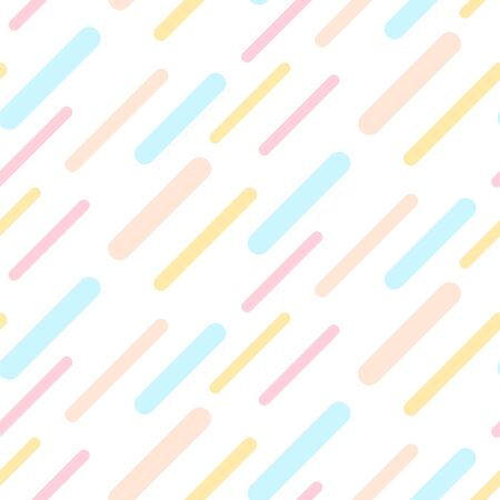 Dashed abstract background seamless pattern pastel light colors. Stick shapes vector texture. Ilustração