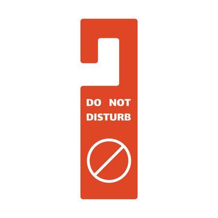 Do not disturb door hanger symbol template. Red label warning sign.
