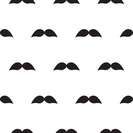 Seamless vector moustache pattern background. Retro style simple repeat texture for print paper and websites.