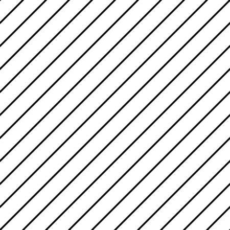 Diagonal stripe simple formal seamless pattern vector. Black thin lines for clothing and shirt fabric design texture.