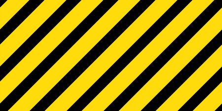 Caution black and yellow striped seamless vector pattern. Attention banner template texture.