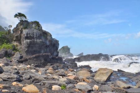 The beautiful east coast in Yilan, Taiwan