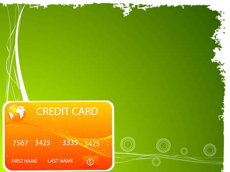 mastercard: credit card on gradient backgroundrn Stock Photo