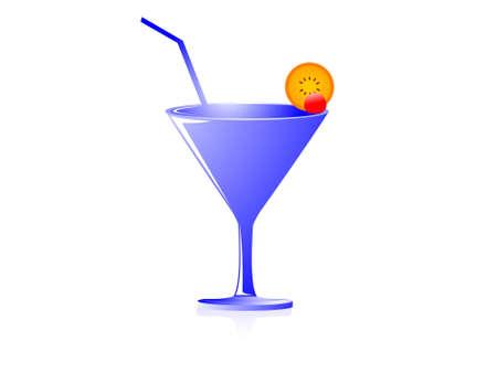 juice glass on isolated background     photo