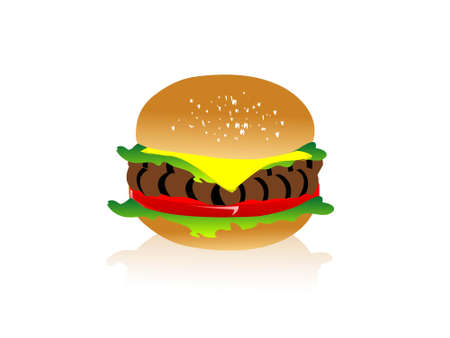 veg burger on isolated background     photo