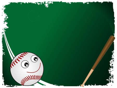 homerun: baseball and bat on gradient background