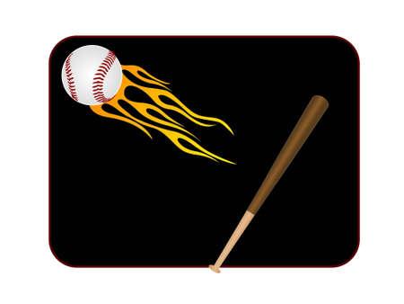homerun: bat and ball on dark background   Stock Photo
