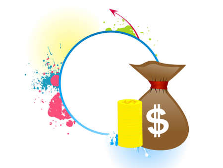 money bag on abstract background   photo