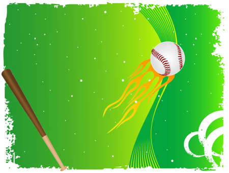 homerun: baseball bat with ball on dotted gradient background   Stock Photo