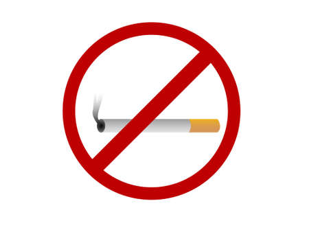 no smoking  on isolated background   photo