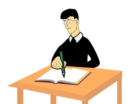 notebook writing on isolated background Stock Photo - 3184682