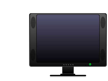 television set on isolated background     photo