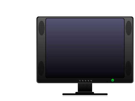 telecast: television set on isolated background