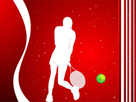 tennis player on dotted background   photo