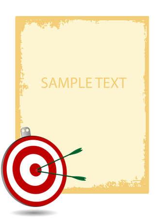 archery on text template   photo