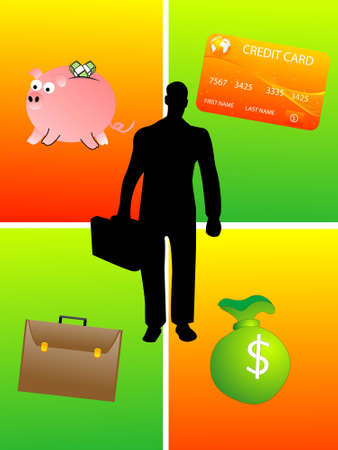 mastercard: financial things on rectangular backgroundrn Stock Photo