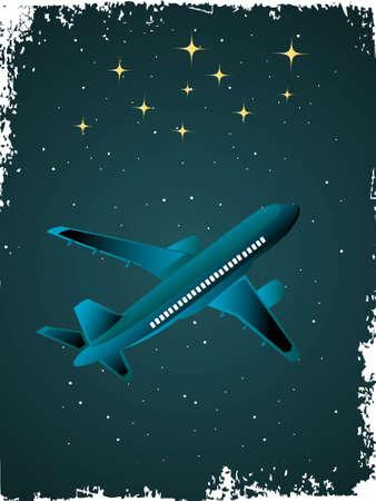 stary: aeroplane in stary sky