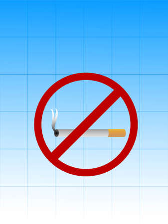 cigarette with no smoking sign