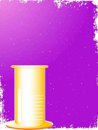 beaker in grunge frame Stock Photo - 3185143