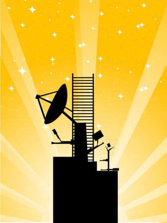 stary: antenna block on stary background