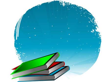 literature books on circular background   photo
