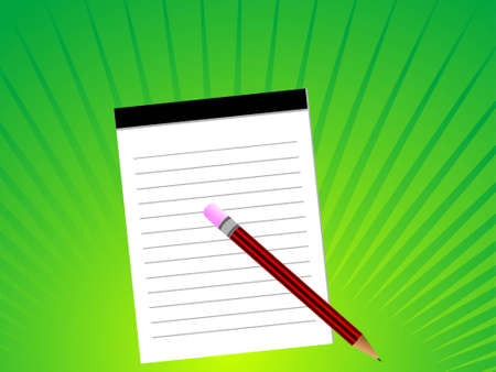 notepad and pencil Stock Photo - 3204483