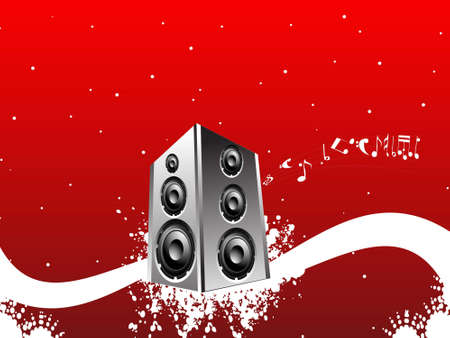 loudspeaker on abstract background   photo