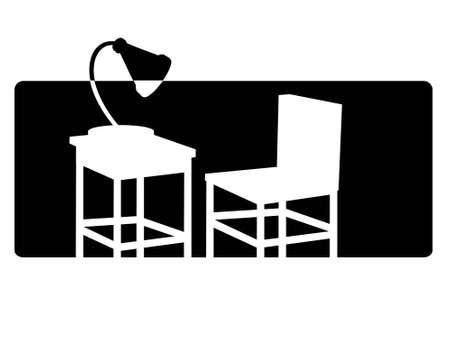 study furniture on isolated background   photo