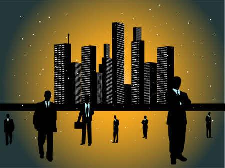 corporate people near office       photo