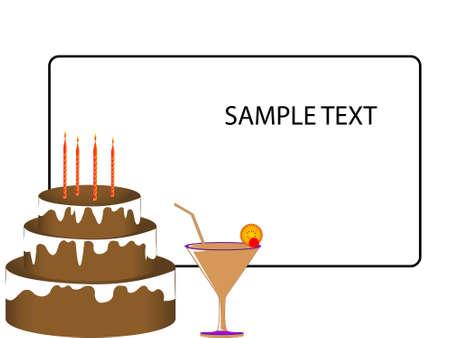 celebration cake on card   photo