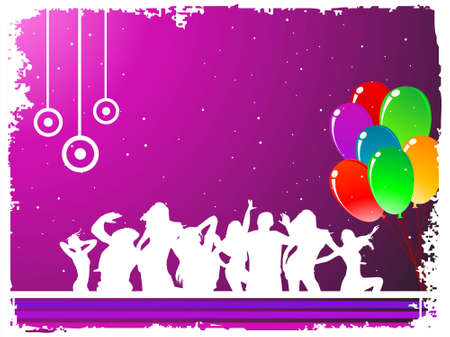 balloons in crowd on dotted gradient background   photo