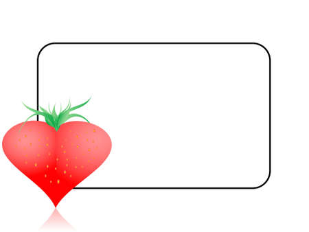 refreshment: strawberry on text templet