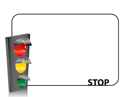 traffic light on text template   photo