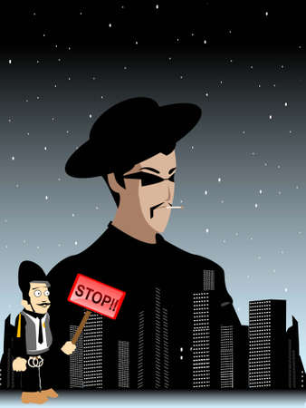 culprit: criminal and police in city