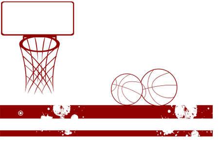 basketballs: basketballs and net on isolated background   Stock Photo