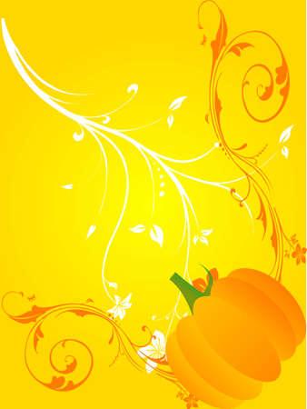 pumpkin and florals on gradient background   photo
