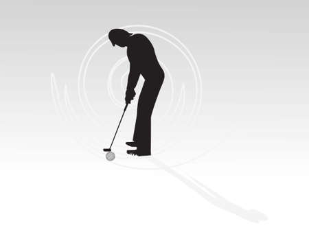 male golfer on gradient background 
