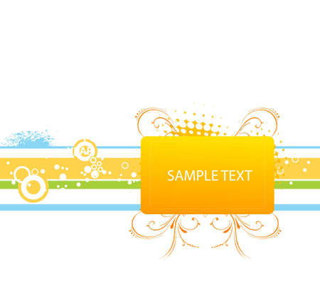 sample text: floral template on striped background