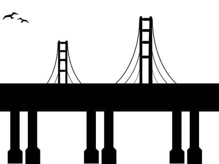 suspension: isolated suspension bridge with bridge