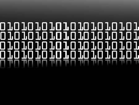 decode: binary digits on dark background