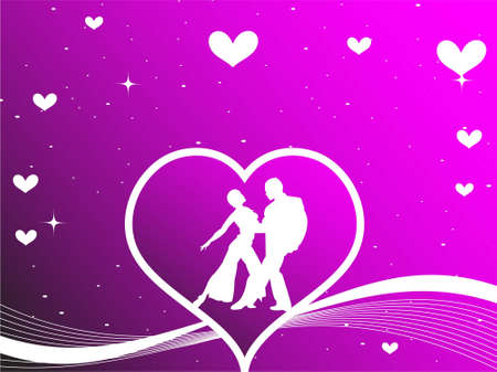 couple posing inside heart on gradient background   photo