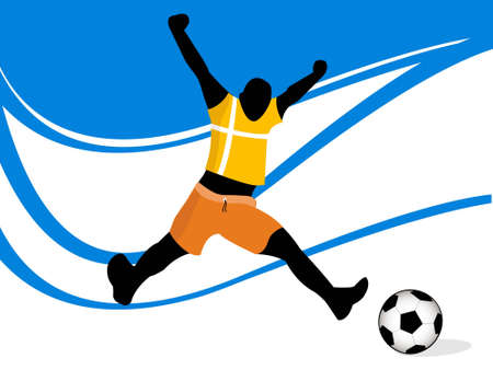 soccer player on swirly background       photo