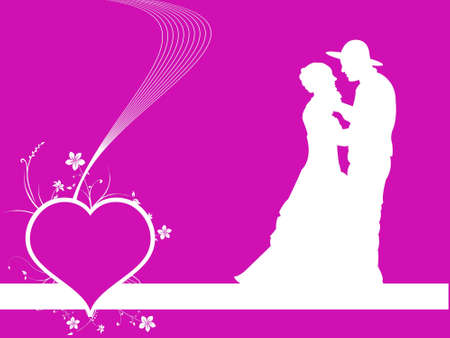making love: pareja haciendo el amor sobre un fondo abstracto