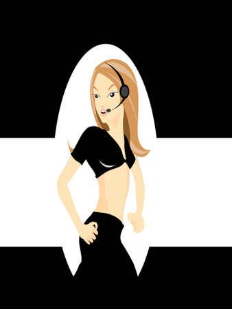 lady singer on dark shade background   photo
