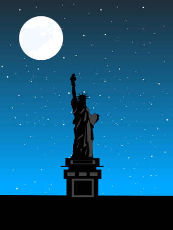statue of liberty view in night Stock Photo - 3310755