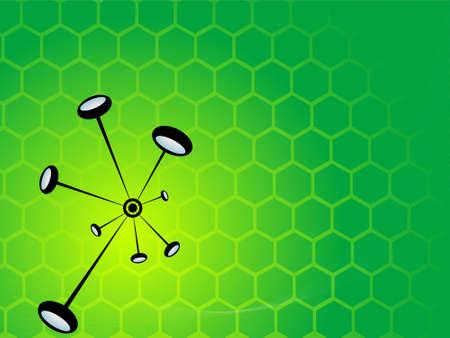 particle bonding on hexagonal gradient background Stock Photo - 3311140